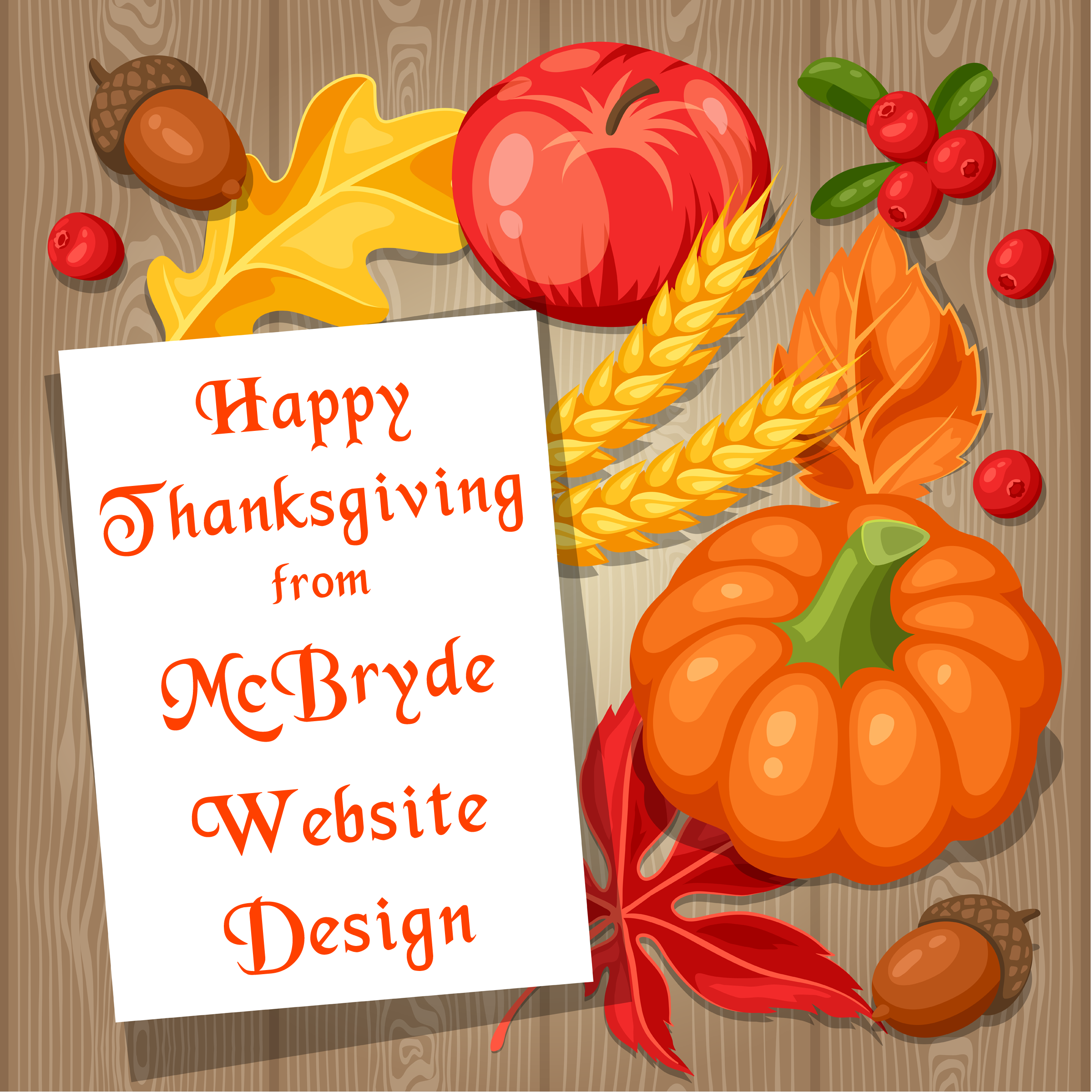 Happy Thanksgiving from your local website specialist